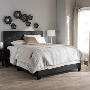 Baxton Studio Brookfield Modern and Contemporary Charcoal Grey Fabric Full Size Bed Baxton Studio-Full Bed-Minimal And Modern - 1