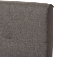 Baxton Studio Brookfield Modern and Contemporary Grey Fabric Upholstered Grid-tufting Full Size Bed Baxton Studio-Full Bed-Minimal And Modern - 4