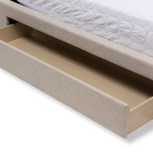 Baxton Studio Brandy Light Beige Fabric Upholstered Queen Size Storage Platform Bed Baxton Studio-King Bed-Minimal And Modern - 8