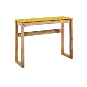 "Manhattan Comfort Mid- Century Modern Stillwell 47.3"" Bar Table  in Yellow and Natural WoodManhattan Comfort-Bar Table- - 1"