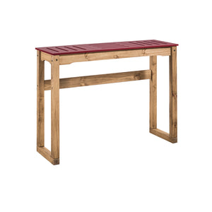 "Manhattan Comfort Mid- Century Modern Stillwell 47.3"" Bar Table  in Red and Natural WoodManhattan Comfort-Bar Table- - 1"