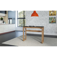 "Manhattan Comfort Mid- Century Modern Stillwell 47.3"" Bar Table  in Black and Natural Wood"