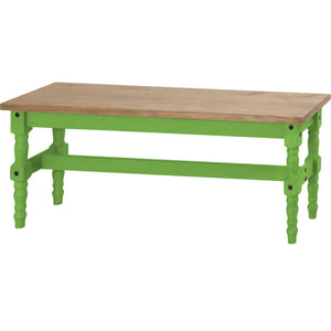 "Manhattan Comfort  Jay 47.25"" Solid Wood Dining Bench in Green WashManhattan Comfort-Kitchen & Dining- - 1"