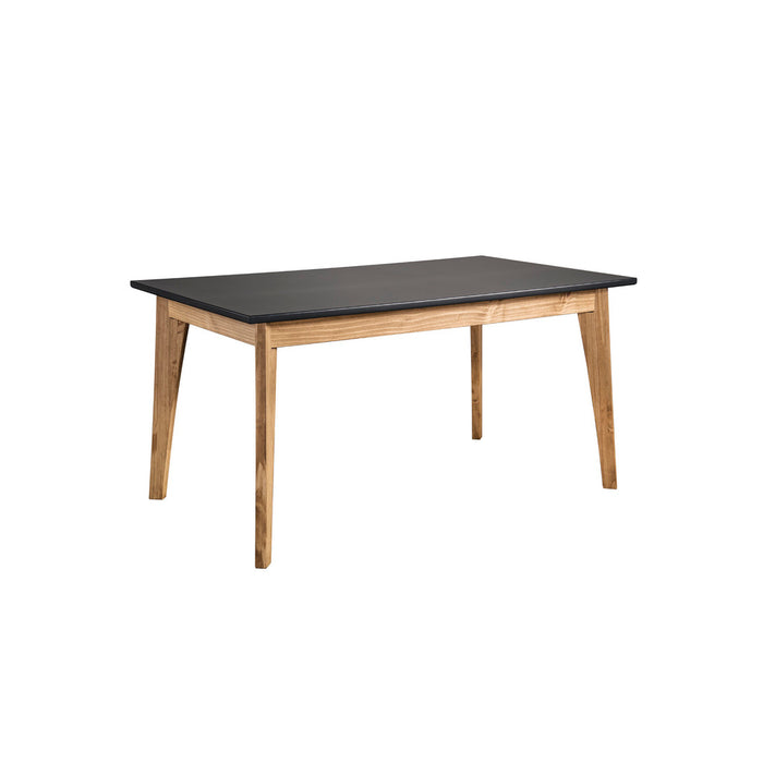 Manhattan Comfort Rustic Mid-Century Modern Jackie 6-Seating Dining Table  in Dark Grey and Natural WoodManhattan Comfort-Dining Table- - 1