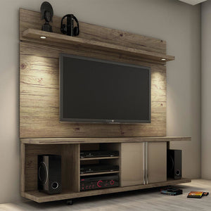 Manhattan Comfort Carnegie TV Stand and Park 1.8 Panel Nature and Nude, TV Stands - Manhattan Comfort, Minimal & Modern - 1