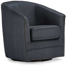 Baxton Studio Porter Modern and Contemporary Classic Retro Grey Fabric Upholstered Swivel Tub Chair Baxton Studio-chairs-Minimal And Modern - 2