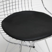 Baxton Studio Avery Mid-Century Modern Wire Chair with Black Cushion (Set of 2) Baxton Studio-dining chair-Minimal And Modern - 3