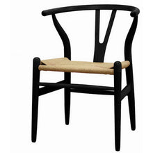 Baxton Studio Mid-Century Modern Wishbone Chair - Black Wood Y Chair (Set of 2) Baxton Studio-chairs-Minimal And Modern - 1