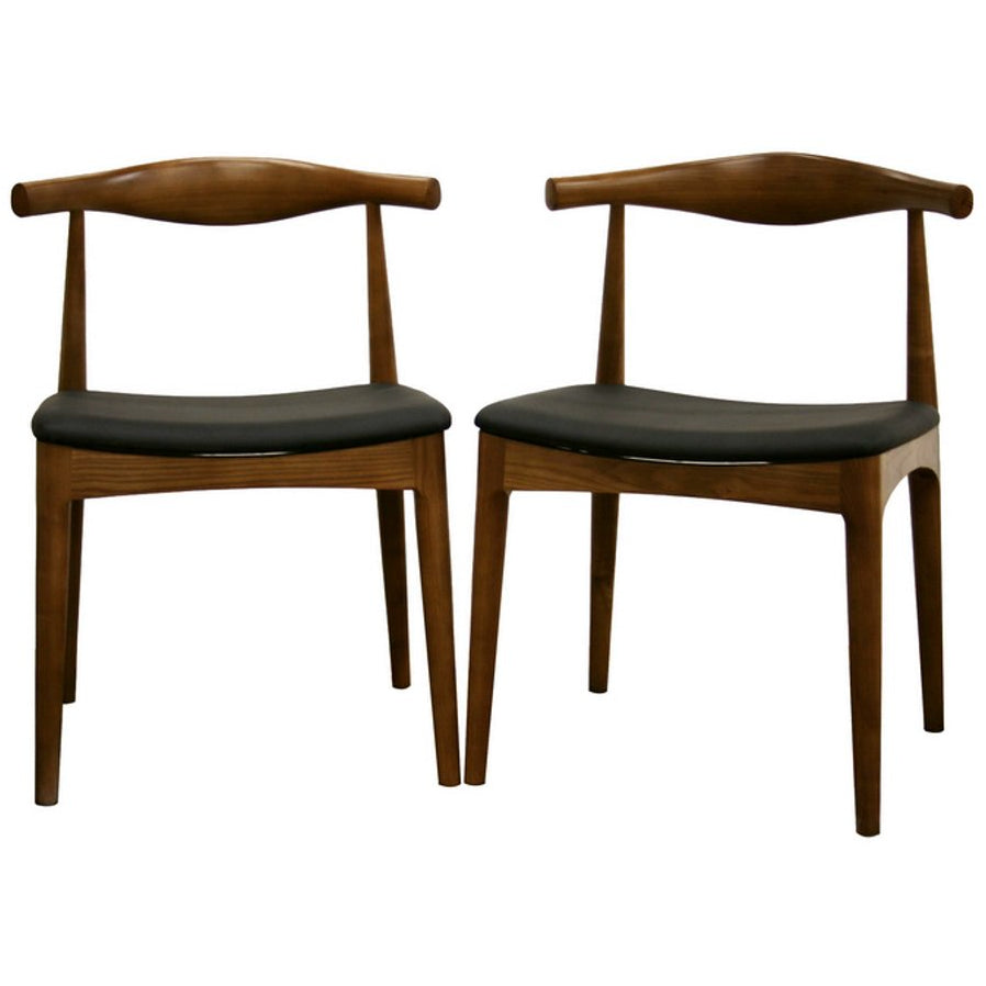 Baxton Studio Sonore Solid Wood Mid-Century Style Accent Chair Dining Chair Baxton Studio-dining chair-Minimal And Modern - 1