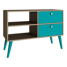 Manhattan Comfort Practical Dalarna TV Stand with 2 Open Shelves and 2 - Drawers-Minimal & Modern