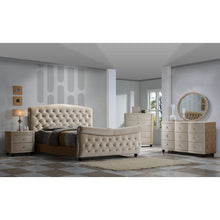 Meridian Furniture Diamond King Sleigh Bed-Minimal & Modern