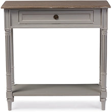 Baxton Studio Edouard French Provincial Style White Wash Distressed Two-tone 1-drawer Console Table Baxton Studio-side tables-Minimal And Modern - 1