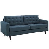 Modway Furniture Empress Upholstered Sofa Azure, Sofas - Modway Furniture, Minimal & Modern - 35