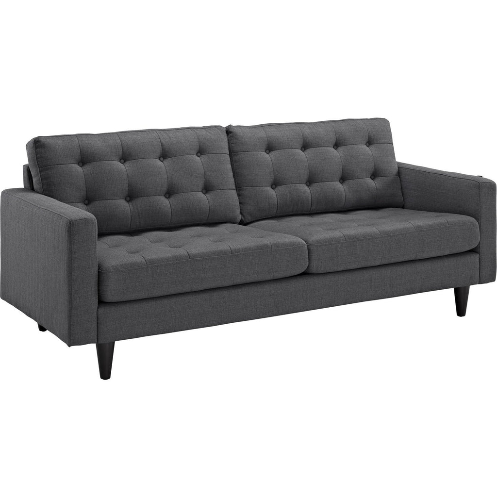 Modway Furniture Empress Upholstered Sofa Gray, Sofas - Modway Furniture, Minimal & Modern - 1
