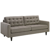 Modway Furniture Empress Upholstered Sofa Granite, Sofas - Modway Furniture, Minimal & Modern - 31