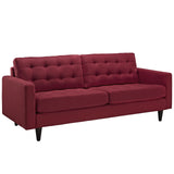 Modway Furniture Empress Upholstered Sofa Red, Sofas - Modway Furniture, Minimal & Modern - 14