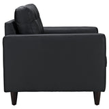 Modway Furniture Empress Leather Armchair , Armchair - Modway Furniture, Minimal & Modern - 3