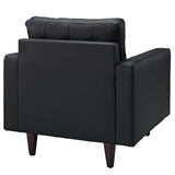 Modway Furniture Empress Leather Armchair , Armchair - Modway Furniture, Minimal & Modern - 4