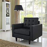 Modway Furniture Empress Leather Armchair , Armchair - Modway Furniture, Minimal & Modern - 5