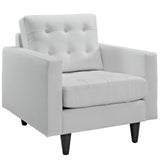 Modway Furniture Empress Leather Armchair White, Armchair - Modway Furniture, Minimal & Modern - 6