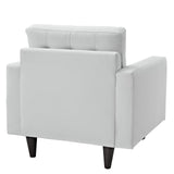 Modway Furniture Empress Leather Armchair , Armchair - Modway Furniture, Minimal & Modern - 9