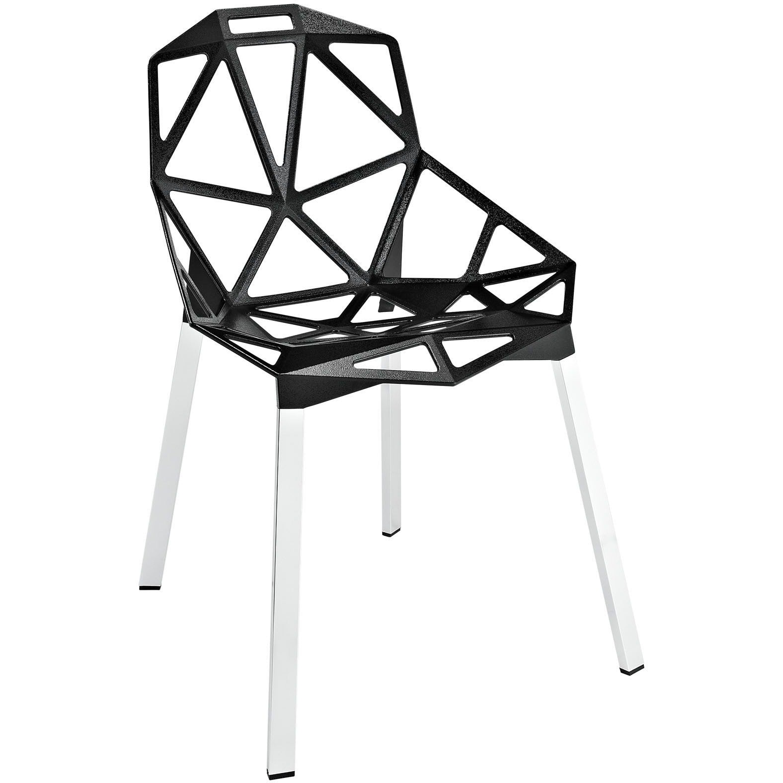 Exceptionnel ... Modway Furniture Connections Modern Dining Side Chair Black, Dining  Chairs   Modway Furniture, Minimal ...