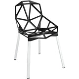 Modway Furniture Connections Modern Dining Side Chair Black, Dining Chairs - Modway Furniture, Minimal & Modern - 1
