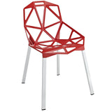 Modway Furniture Connections Modern Dining Side Chair Red, Dining Chairs - Modway Furniture, Minimal & Modern - 5