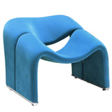 Modway Furniture Modern Cusp Lounge Chair Blue, Chairs - Modway Furniture, Minimal & Modern - 11