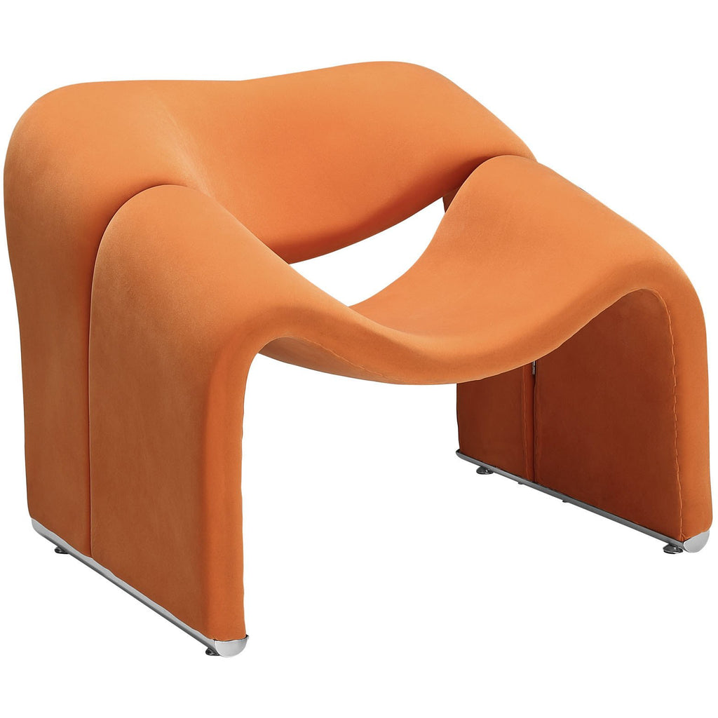 Modway Furniture Modern Cusp Lounge Chair Orange, Chairs - Modway Furniture, Minimal & Modern - 1