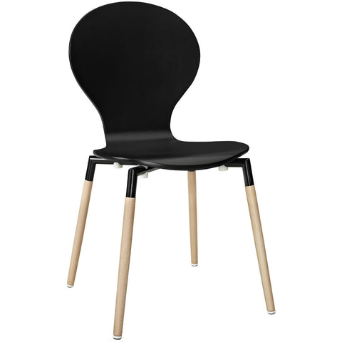 Modway Furniture Path Modern Dining Side Chair Black, Dining Chairs - Modway Furniture, Minimal & Modern - 1