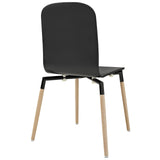 Modway Furniture Stack Modern Dining Wood Side Chair , Dining Chairs - Modway Furniture, Minimal & Modern - 3