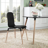 Modway Furniture Stack Modern Dining Wood Side Chair , Dining Chairs - Modway Furniture, Minimal & Modern - 4