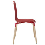 Modway Furniture Stack Modern Dining Wood Side Chair , Dining Chairs - Modway Furniture, Minimal & Modern - 6