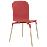 Modway Furniture Stack Modern Dining Wood Side Chair , Dining Chairs - Modway Furniture, Minimal & Modern - 7