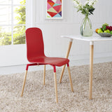 Modway Furniture Stack Modern Dining Wood Side Chair , Dining Chairs - Modway Furniture, Minimal & Modern - 8