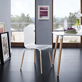 Modway Furniture Stack Modern Dining Wood Side Chair , Dining Chairs - Modway Furniture, Minimal & Modern - 12