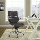Modway Modern Push Mid Back Adjustable Computer Office Chair - Minimal & Modern - 16