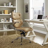 Modway Modern Push Mid Back Adjustable Computer Office Chair - Minimal & Modern - 4