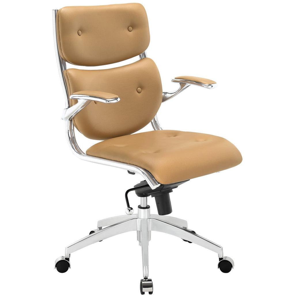 Modway Modern Push Mid Back Adjustable Computer Office Chair - Minimal & Modern - 1