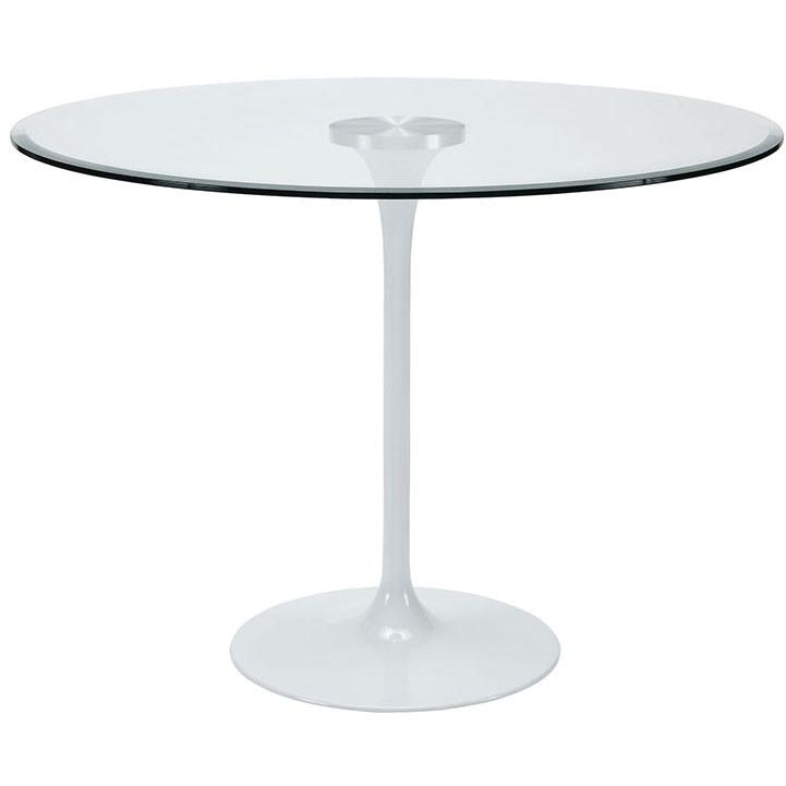 Modway Furniture Modern Glass Circuit Dining Table in Clear EEI-1068-CLR-Minimal & Modern