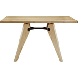 Modway Furniture Landing Wood Modern Dining Table Natural, dining tables - Modway Furniture, Minimal & Modern - 1