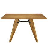 Modway Furniture Landing Wood Modern Dining Table Walnut, dining tables - Modway Furniture, Minimal & Modern - 5