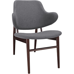 Modway Furniture Modern Cherish Wood Lounge Chair EEI-1098-DGR-Minimal & Modern