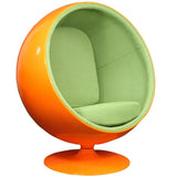 Modway Furniture Modern Kaddur Lounge Chair Orange Green, Chairs - Modway Furniture, Minimal & Modern - 12