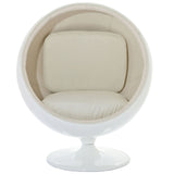 Modway Furniture Modern Kaddur Lounge Chair White, Chairs - Modway Furniture, Minimal & Modern - 5