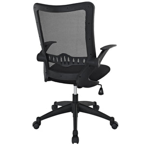 Modway Modern Explorer Mid Back Adjustable Computer Office Chair EEI-1104-BLK-Minimal & Modern