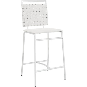 Modway Furniture Fuse Modern Counter Stool White, Counter Stools - Modway Furniture, Minimal & Modern - 1