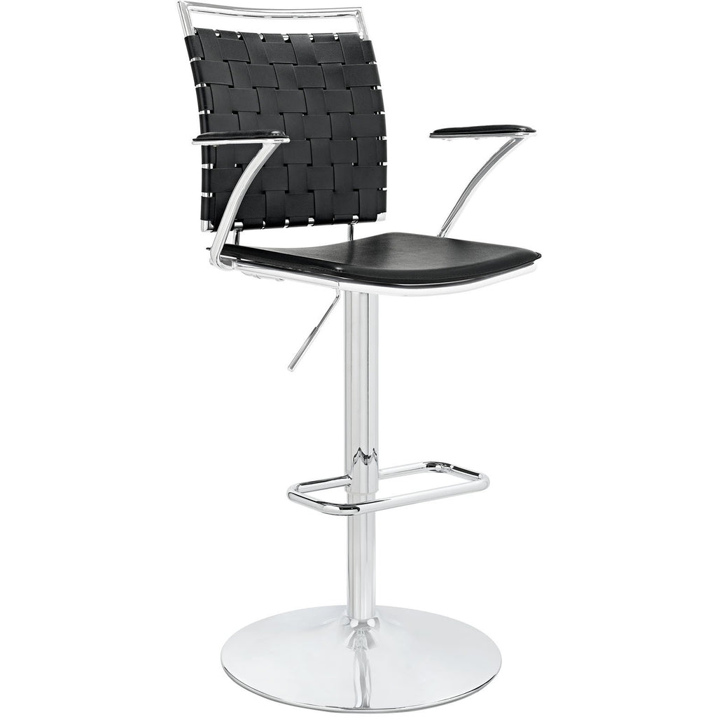 Modway Furniture Fuse Adjustable Modern Bar Stool Black, Bar Stools - Modway Furniture, Minimal & Modern - 1