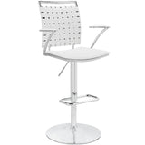 Modway Furniture Fuse Adjustable Modern Bar Stool White, Bar Stools - Modway Furniture, Minimal & Modern - 5